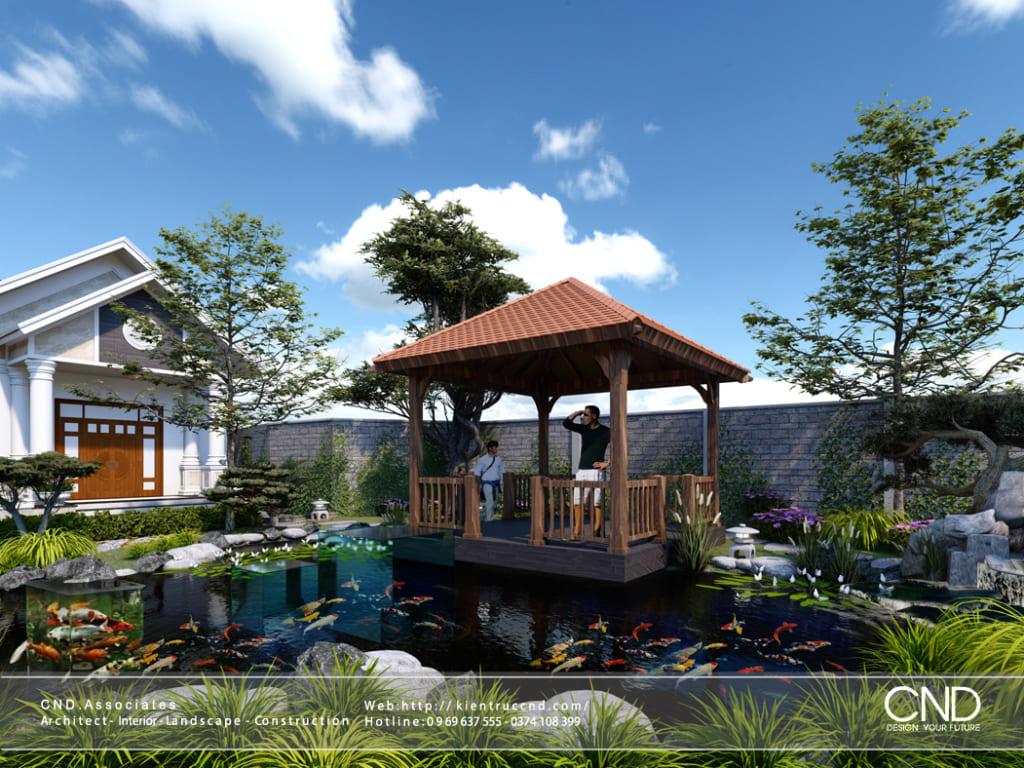Thiết kế hồ cá Koi - Kiến trúc CND, Thành phố Vinh, Nghệ An